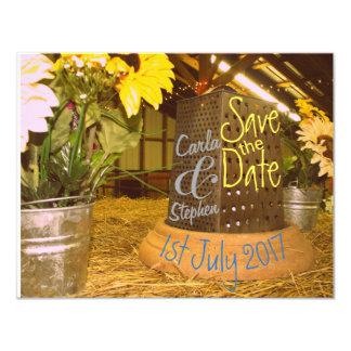 Cheese Grater Save the Date Card
