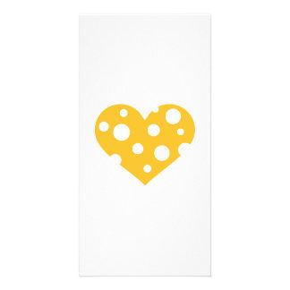 Cheese heart photo card