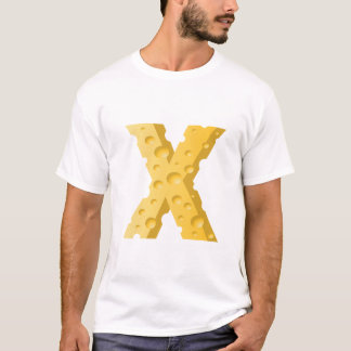 Cheese Letter X Mens T-Shirt