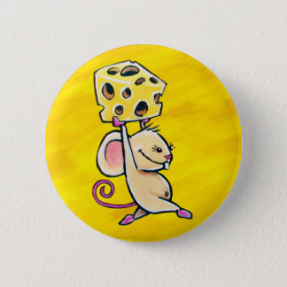 Cheese Mouse 2 Inch Round Button