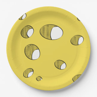 Cheese party paper plate