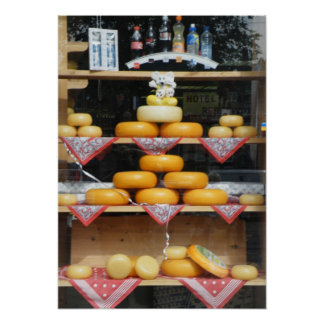 Cheese Shop Window in Amsterdam Poster