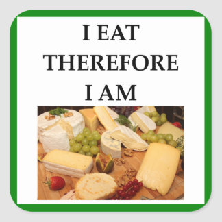 cheese square sticker