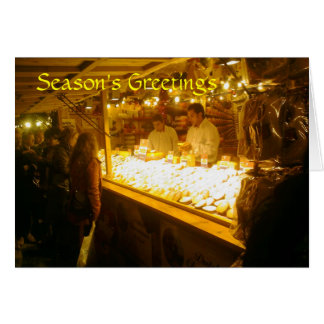 Cheese Stall, German Christmas Market, Manchester Card