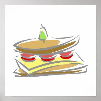 Cheese & Tomato Sandwich Poster