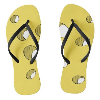 Cheese with holes flip flops