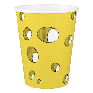 Cheese with holes paper cup
