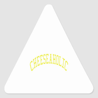 Cheeseaholic - Custom Background Color Triangle Sticker