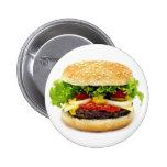 Cheeseburger 2 Inch Round Button