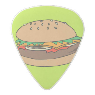 Cheeseburger and fries guitar pick