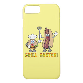 Cheeseburger and Hot Dog Grill Master iPhone 7 Case