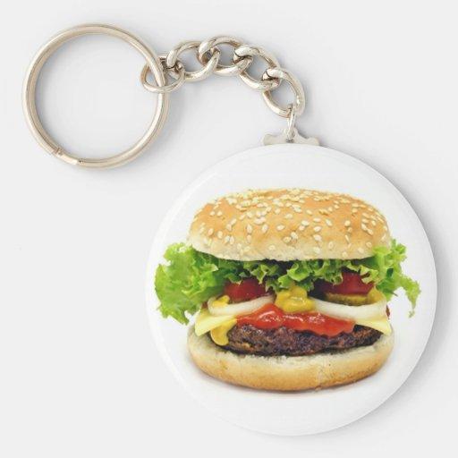 Cheeseburger Basic Round Button Keychain | Zazzle