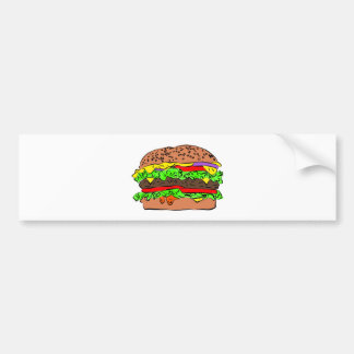 Cheeseburger Bumper Sticker