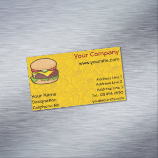 Cheeseburger Business Card Magnet