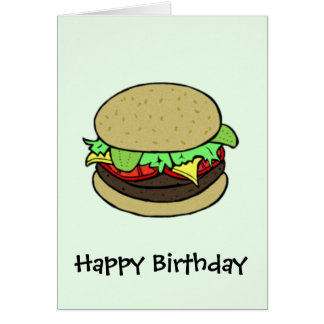 Cheeseburger Card