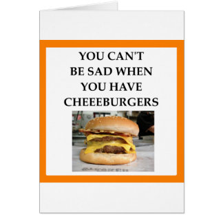 CHEESEBURGER CARD