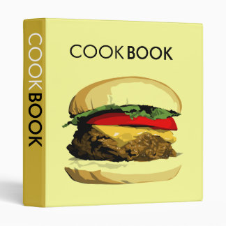 cheeseburger cookbook binders
