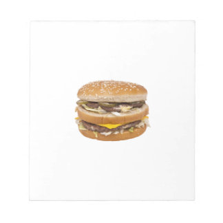 Cheeseburger double fast food notepads