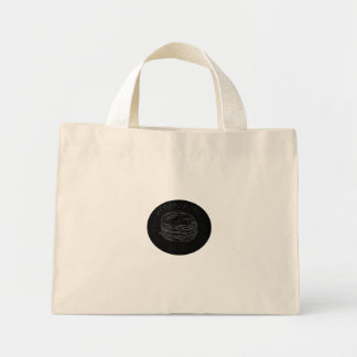 Cheeseburger Drawing Mini Tote Bag