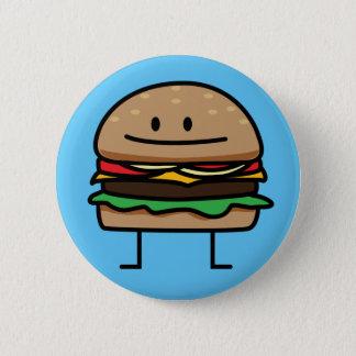 Cheeseburger Hamburger ground meat Beef cheese bun 2 Inch Round Button