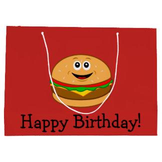 Cheeseburger Happy Birthday Large Gift Bag