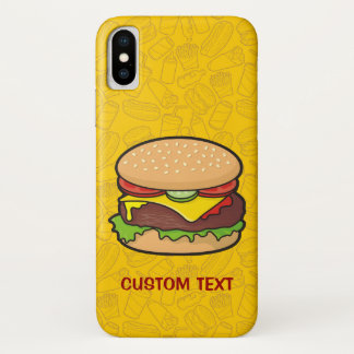 Cheeseburger iPhone X Case
