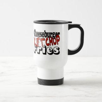 Cheeseburger Ketchup Fries 15 Oz Stainless Steel Travel Mug