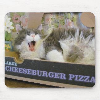 Cheeseburger Pizza and a Nap Mouse Pad