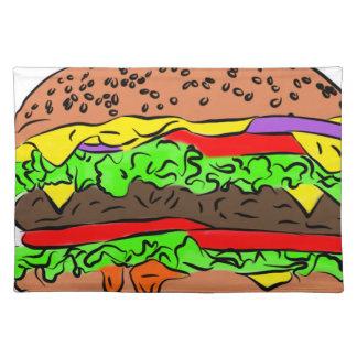 Cheeseburger Placemat