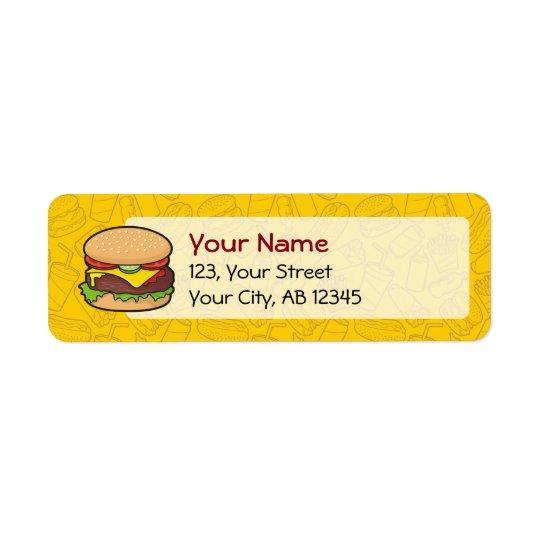 Cheeseburger Return Address Label