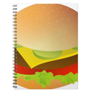 cheeseburger spiral notebook