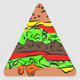 Cheeseburger Triangle Sticker