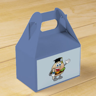 Cheeseburger with Diploma and Hat Favor Box