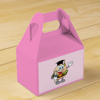 Cheeseburger with Diploma and Hat Wedding Favor Boxes
