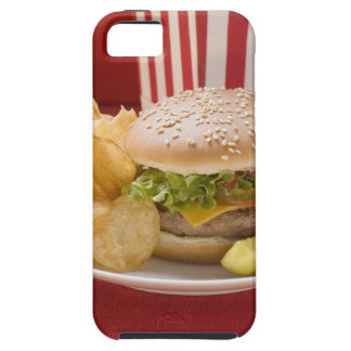 Cheeseburger with potato crisps and gherkin iPhone 5 covers