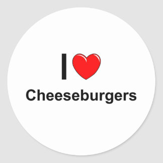 Cheeseburgers Classic Round Sticker