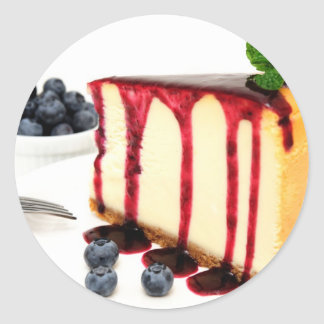 Cheesecake And Blueberries Classic Round Sticker