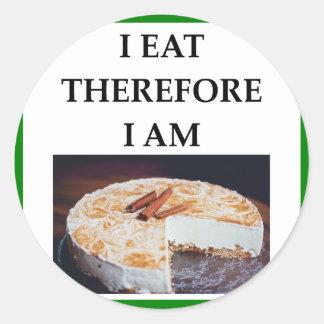 cheesecake classic round sticker