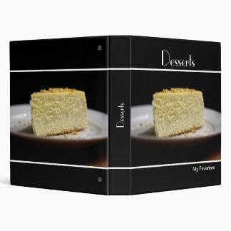 Cheesecake Recipe Binder