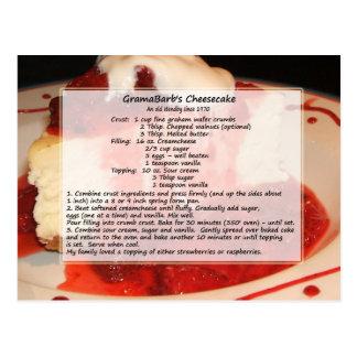Cheesecake Recipe Postcard