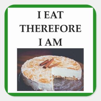 cheesecake square sticker