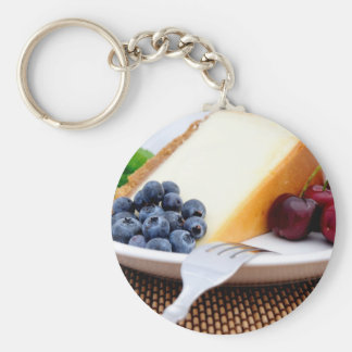 Cheesecake With Fruit Basic Round Button Keychain