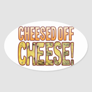 Cheesed Off Blue Cheese Oval Sticker