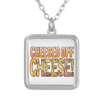 Cheesed Off Blue Cheese Silver Plated Necklace