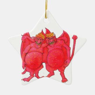 Cheesehead Demons Ceramic Ornament