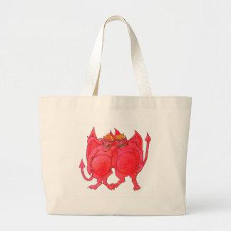 Cheesehead Demons Large Tote Bag