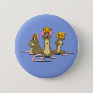 Cheesehead Mice 2 Inch Round Button