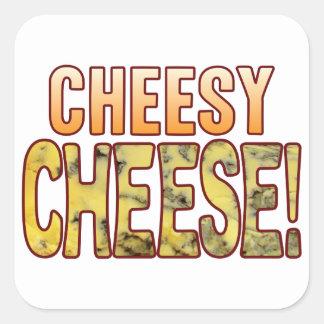 Cheesy Blue Cheese Square Sticker