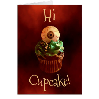 Cheesy Halloween cupcake Card