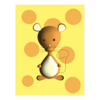 Cheesy little mouse postcard